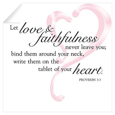 write them on the tablet of your heart