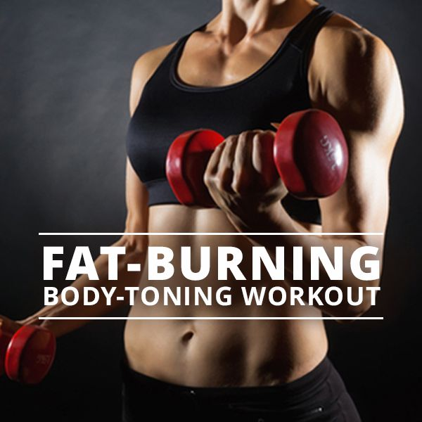 Fat Burning and Body Toning Workout - tone from head to toe!  #totalbodyworkout #workouts