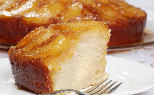 Upside Down Apple Ginger Cake -makes 12 servings.