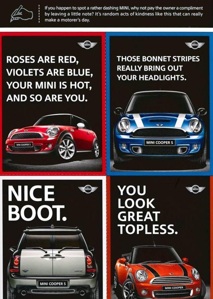 2010 Mini Cooper S ORIGINAL Factory Postcard my1982