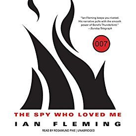 "Another must-listen from my #AudibleApp: ""The Spy Who Loved Me: James Bond, Book 10"" by Ian Fleming, narrated by Rosamund Pike."