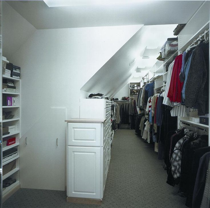25 best ideas about attic bedroom storage on pinterest loft storage eaves storage and attic - Open closets small spaces paint ...