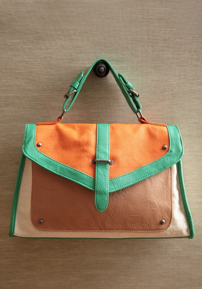 Sugar And Spice Colorblocked Satchel