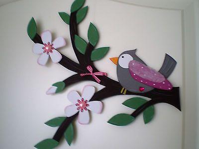 Fensterbild Vögelchen auf Ast 2 Frühling -Küche-Dekoration - Tonkarton!