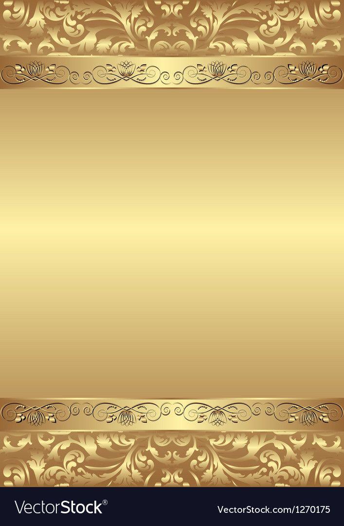 Golden Background Vector Image On Convites Dourados