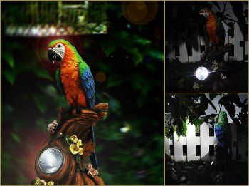 Solar Garden Parrot!
