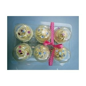 Card Cuts Postable Cupcake Box - Pack of 10: Amazon.co.uk: Kitchen & Home