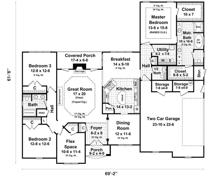 Ranch style house plans with basements ranch house plans for Ranch style blueprints
