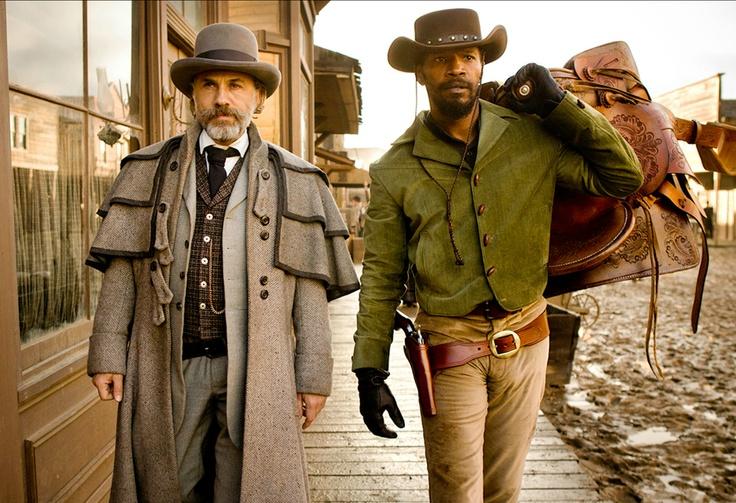 """Christoph Waltz and Jamie Foxx are """"Dr. King Schultz"""" and """"Django"""" in 'Django Unchained' - http://numet.ro/django"""
