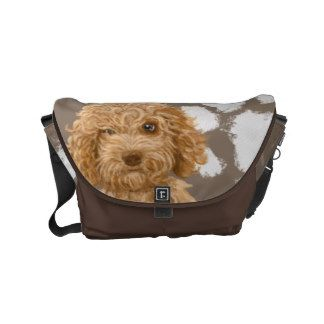 Labradoodle Medium Messenger Bag  | Pet Cartoon