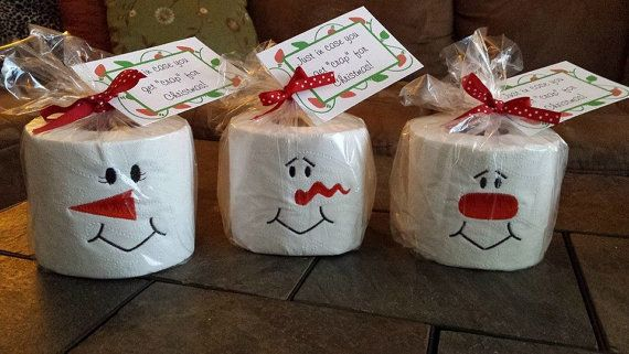 Set of 3 Snowman Embroidered Toilet Paper by AStitchinTimeGifts2