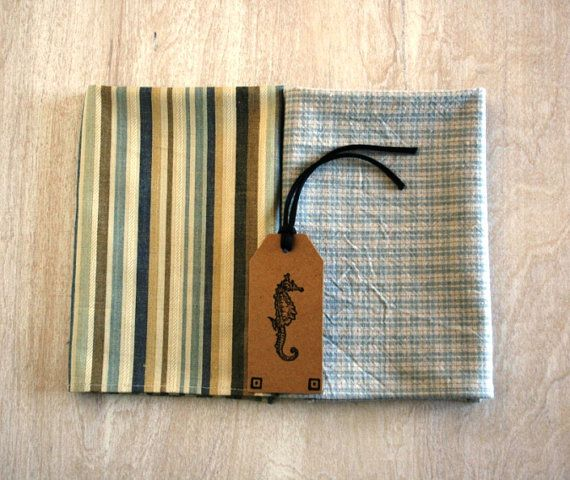 Coastal Stripes Mens Pocket Square Mustard Gold by seasidecloth, $22.50