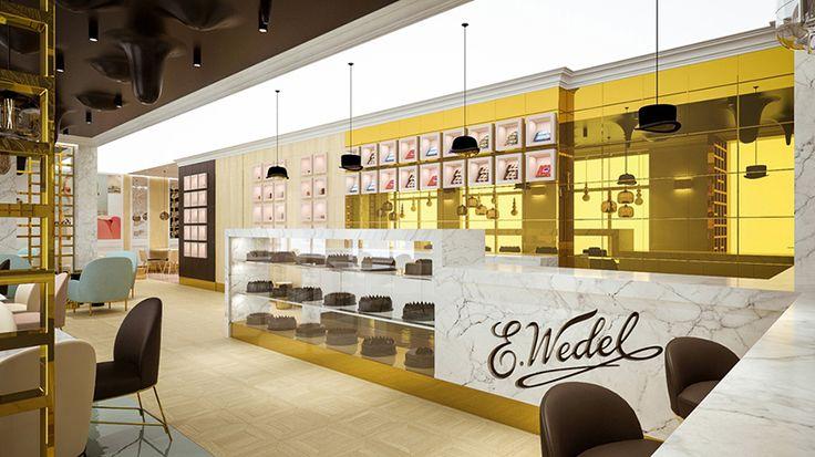 'cafe wedel' by polish design studio lesinska concept