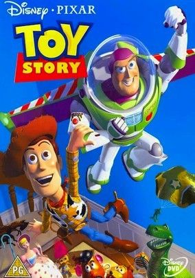Toy Story (1995) Cowboy-toy Woody feels threatened when overblown space ranger Buzz Lightyear arrives with a suitcase full of bells and whistles. But both dolls are lost when the family moves -- and finding their way home is only half the adventure.
