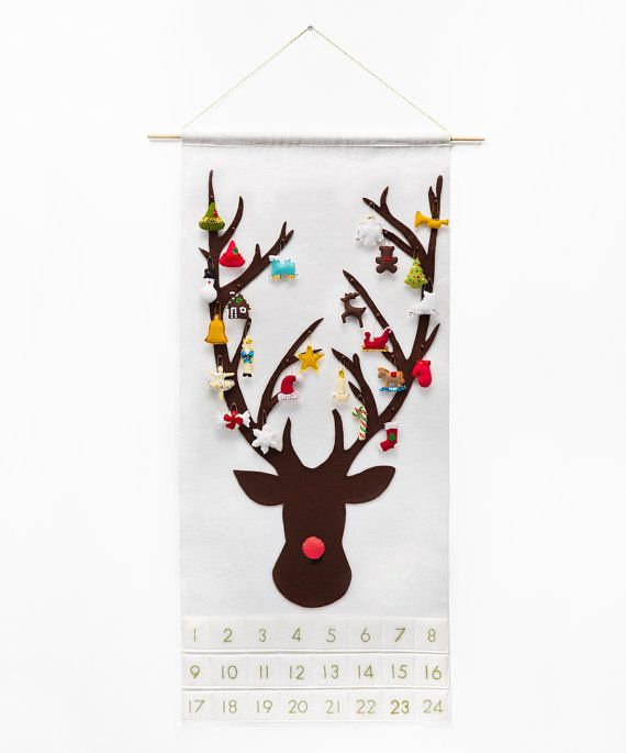 Christmas Advent Calendar Wool Felt di SugarHouseShop
