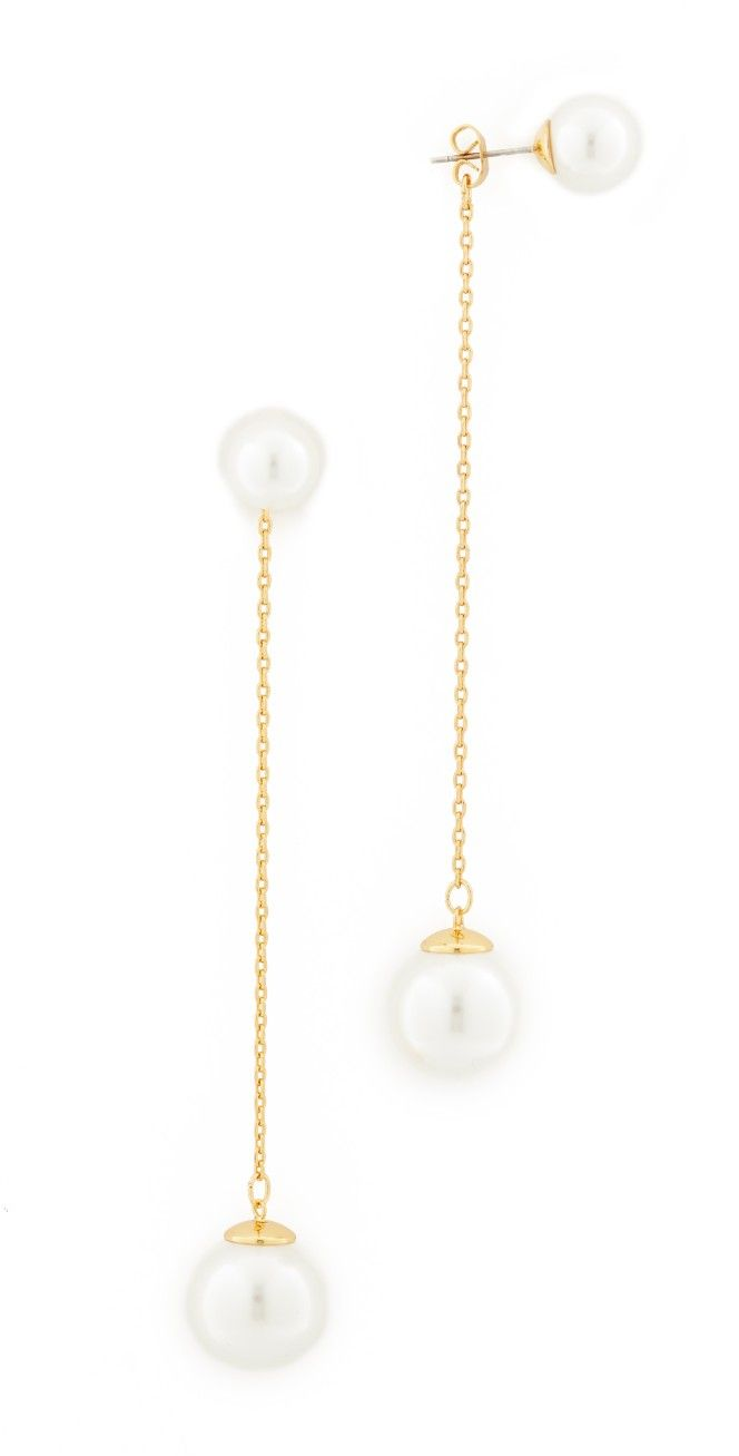 Rebecca Minkoff Sphere Front Back Earrings  15% Off First App Purchase  With Code: