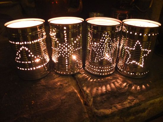 "Am determined to make some Tin Can Lanterns - these ones are from from Thinly Spread ("",)"