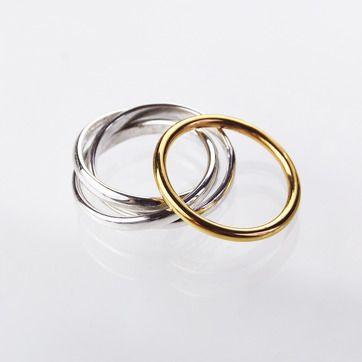1. MILA ringar combo - silver/guld