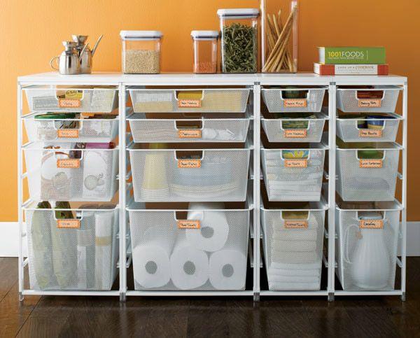 Вариант кухонного стола - рабочая поверхность и выдвижные корзины