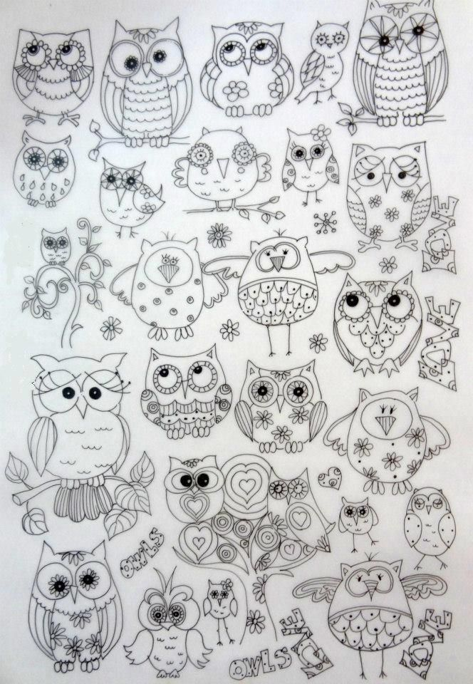 Owl pattern background