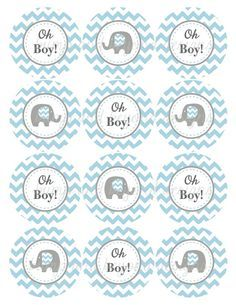Image result for free printable elephant baby shower decorations