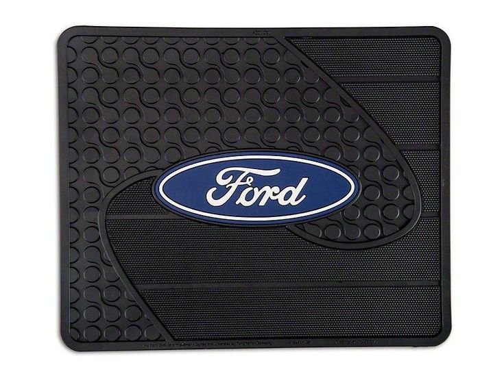 Trushield Ford Logo Rear Utility Floor Mat 97 19 F 150 Plastic