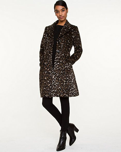 Wool Blend Animal Print Coat I love love love this coat.