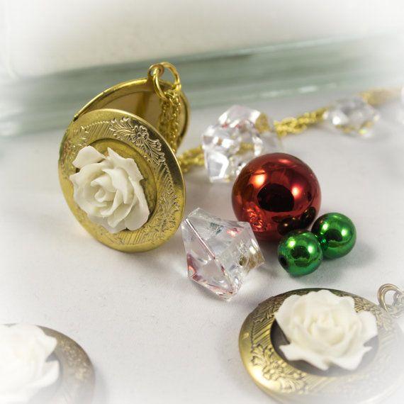 Legend of the Christmas Rose Memory locket by LaraBellaJewelry