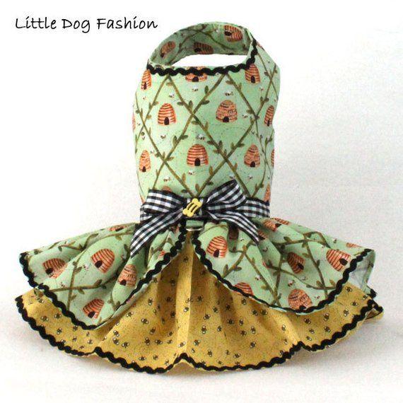 Dog Dress Dog Harness Dress Dog Fashion For Small Dog Ruffle