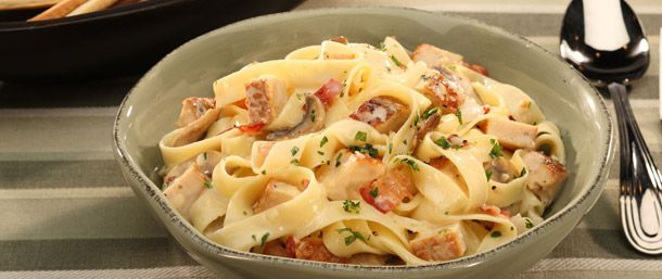 Boar's Head EverRoast® Chicken and Mushroom Carbonara. One of over 200 delicious recipes from Boar's Head.