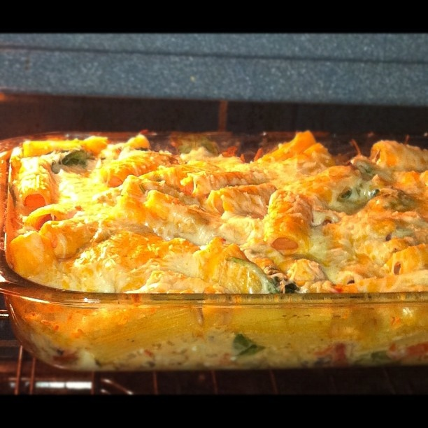What's for dinner? Chicken spinach and rigatoni pasta bake.thank you pinterest! I don't usually care much for cooking unless I'm trying a new recipe out! Haha!! #cooking #food #yum - @redznowhite- #webstagram