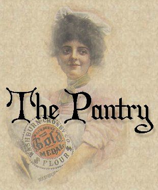 The Victorian Pantry, Authentic Vintage Recipes (includes historical recipes that are just fun to read; recipes include those for kisses [lemon meringue], cider cake, plum pudding, snitz and knep, bubble and squeak, onion custard, and more!)