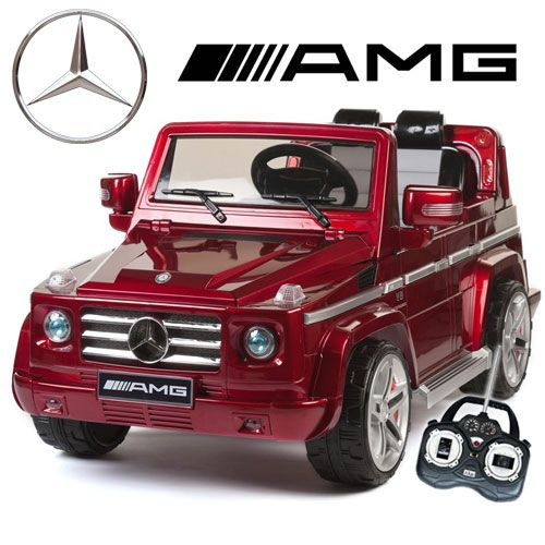 official red mercedes amg g55 premium kids 12v jeep 27995 kids electric cars little cars for little people kids ride ons pinterest mercedes amg