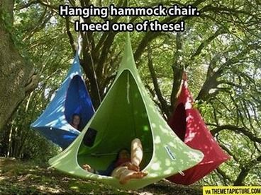 Hanging hammock chair smart products pinterest - Fauteuil de jardin suspendu ...