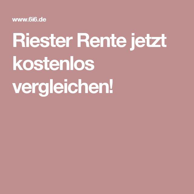 Riester Rente jetzt kostenlos vergleichen!