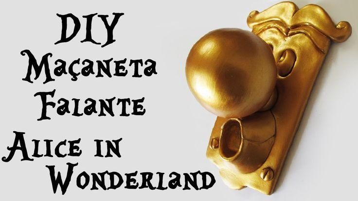 ♠ DIY: Como Fazer a Maçaneta Falante de ALICE no PAÍS das MARAVILHAS (The Doorknob Wonderland Tutorial Polymer Clay)