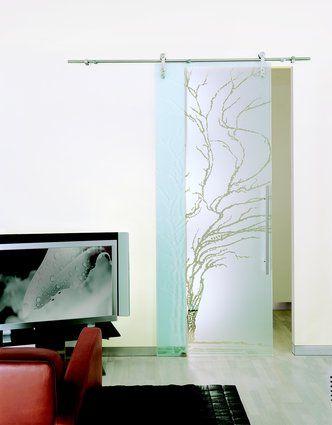Frameless Glass Sliding Door with Stainless Steel Barn Sliding Hardware