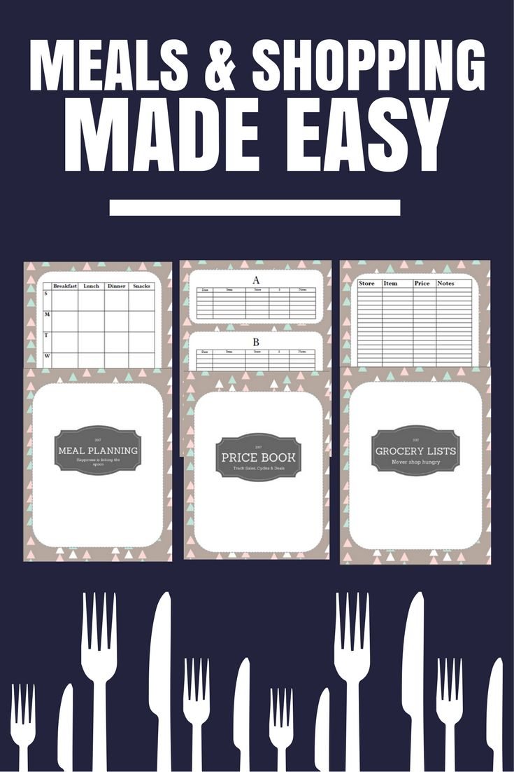 Purchase Order Template Open Office Adorable Shop Smarter This Year With This Bundle Weekly Meal Plan Template .