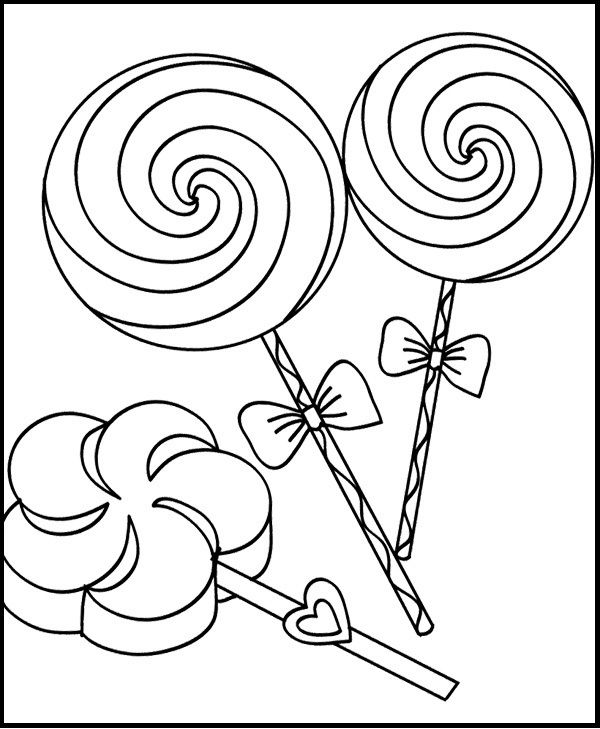 sweet candy  candy coloring pages cool coloring pages