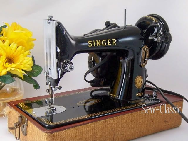 Sew-Classic Blog: Classic Singer 99 Vintage Sewing Machine Review  -- not sure, but this sure looks like the first sewing machine I bought.