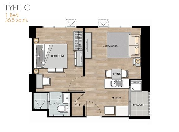 47 best condominium plan images on pinterest condominium aspire rama 4 roomtype think space malvernweather Gallery