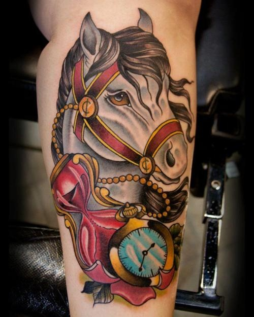 45 best horse tattoo images on pinterest horses tattoo for Horse tattoo traditional