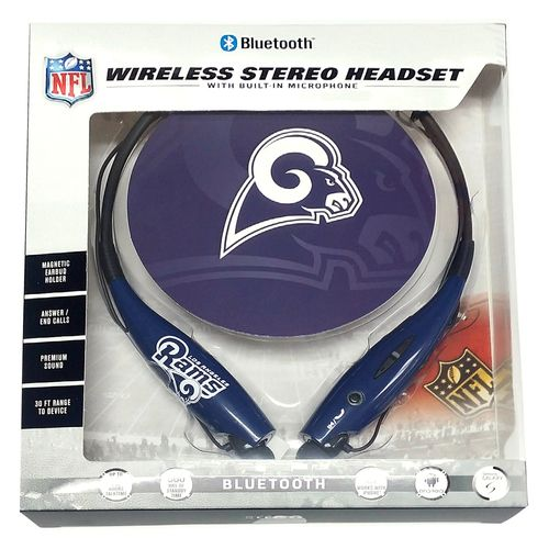 Mizco Sports Wireless Stereo Bluetooth Hands-Free Headset NFL Los Angeles Rams