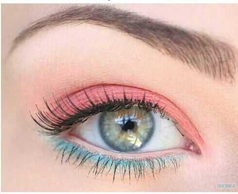 .Pastel colored eyeshadows.  Reminds me of cotton candy.