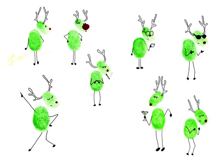 Show your family's personality with these cute little reindeer thumbprints.