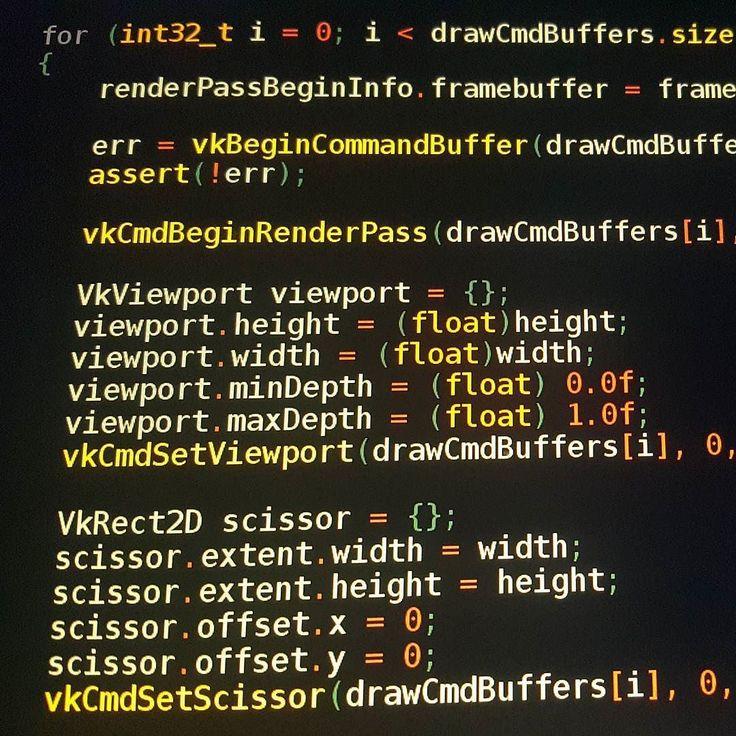 Vulkan is so verbose n i luv it! #blubee #vulkan #programmer #cprogramming #hacker #coding #programminglife #codingproblems #coder #programmingisfun #vimeditor #mobiledevelopers #programming #linux #vim #programminglanguages #programminglanguage #cprogramming #opengl #bashshell #gameprogramming #computerprogramming #cprogramminglanguage #programmingtime #mobileappdeveloper #hackers #programming101 #programming #mobiledeveloper #programming_language #programmerlife by blubeegan
