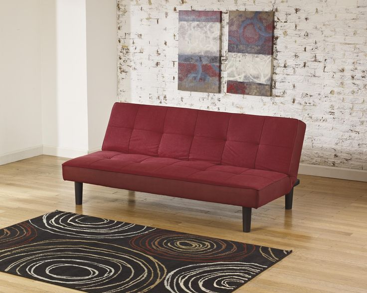 ashley vara 6830145 signature design red flip flop sofa   sofa seating along with the option of lying flat for a  fortable sleeping surface make the vara     64 best chairs ottomans  u0026 futons images on pinterest   futons      rh   pinterest