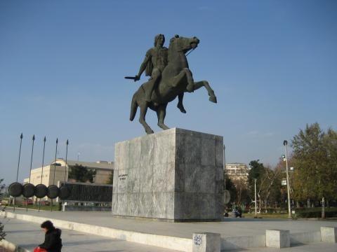 Άγαλμα Μεγάλου Αλεξάνδρου, παραλία Θεσσαλονίκης
