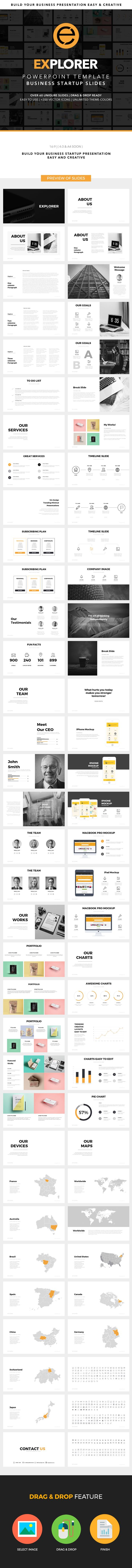 Explorer #Powerpoint Template - #Business PowerPoint #Templates Download here:  https://graphicriver.net/item/explorer-powerpoint-template/19266788?ref=alena994