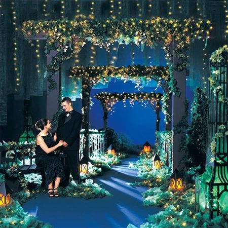 Le Jardin de L'Amour Complete Prom Theme-Garden Paradise complete with arches great for Prom Grand March